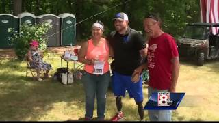 Governor LePage pours some pints for a good cause