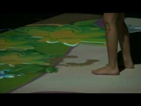 Floor Projection Interactive Games for Gait and Balance Training