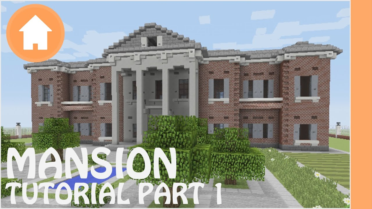 minecraft tutorial how to build a mansion in minecraft 1