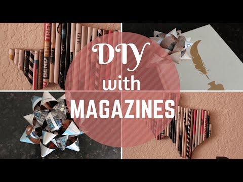 DIY   Magazine Gift Bow & Wall Art