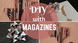 Diy | Magazine Gift Bow & Wall Art
