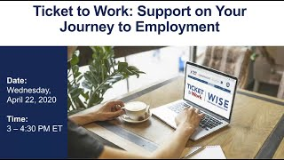 WISE Webinar 2020-04: Support on Your Journey to Employment