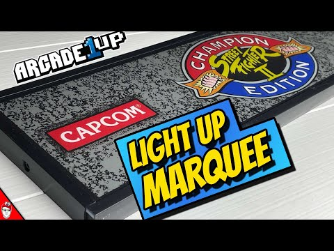 Arcade1Up - Light-Up Marquee Upgrade from Console Kits