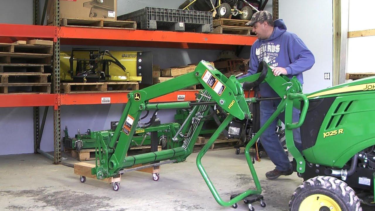 John Deere 60 Lawn Tractor Wiring Diagram 46 John Deere 1025r Loader Removal Storage On Rollers