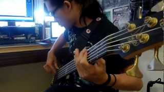 Born of osiris - follow the signs  bass cover HD