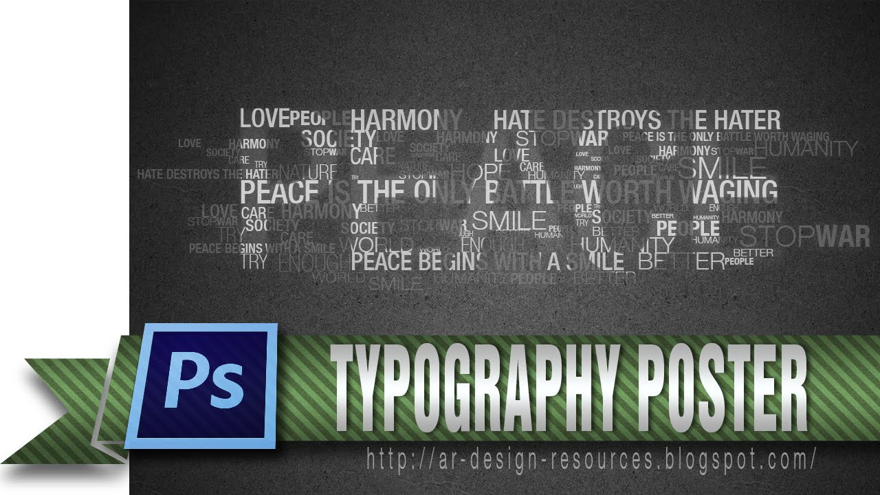 how to make a cool typography poster photoshop tutorial youtube