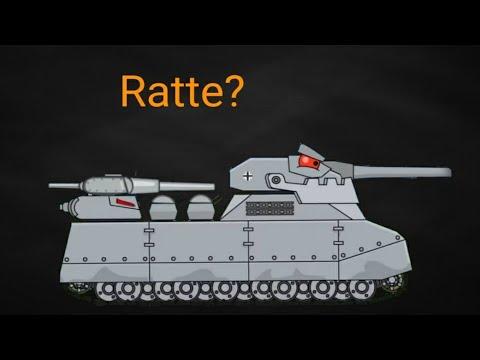 Demon Ratte Vs Fusion Ratte-Cartoon about tanks