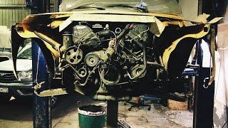 Нива с V8 для дрифта  Вытащили мотор