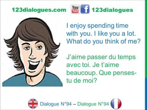 Dialogue 94 - English French Anglais Français - Romantic night Date - Soirée romantique