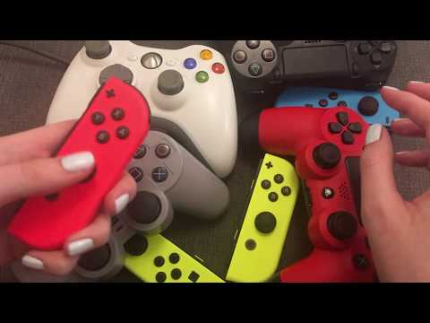 ASMR Controller Sounds (with whispering)