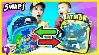 BACKPACK SWAP CHALLENGE! HobbyBear VS HobbyMom Switch SURPRISE Toys by HobbyKidsTV