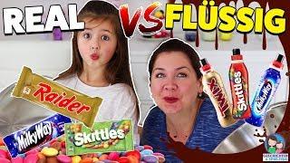 Echte vs. Flüssige Süßigkeiten - Schmeckt ein flüssiger Twix?! Geschichten und Spielzeug