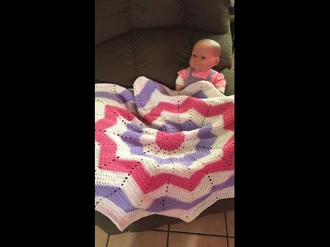 How To Crochet The Round Ripple Baby Blanket Youtube