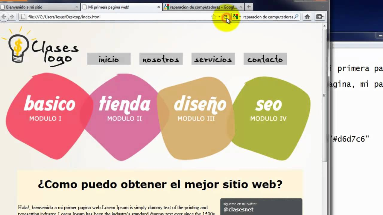 Como crear una pagina web completa en html 6 youtube for Paginas para hacer planos gratis