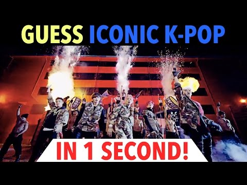 GUESS ICONIC K-POP SONGS IN 1 SECOND