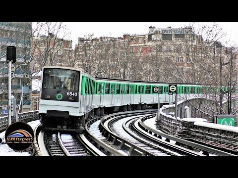 Paris Métro : Le Métro Parisien sous la neige / Fevrier 2018