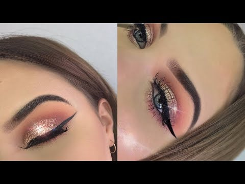 Champagne GLITTER Smokey Eye | Full Face First Impressions