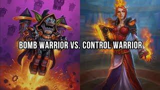 Bomb Warrior vs.  Control Warrior