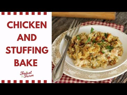 Chicken And Stuffing Bake (Use Up Those Holiday Leftovers!)