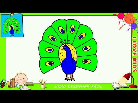 Como Desenhar Um Pavao Facil Passo A Passo Para Criancas E