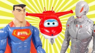 Superman & Super Wings toys. Toy videos.