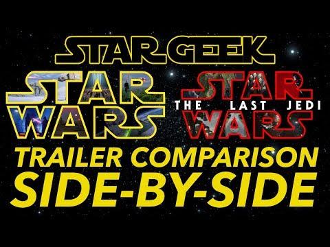 Download Youtube: ORIGINAL STAR WARS TRILOGY Fan Trailer THE LAST JEDI - Side-By-Side Comparison - Star Geek