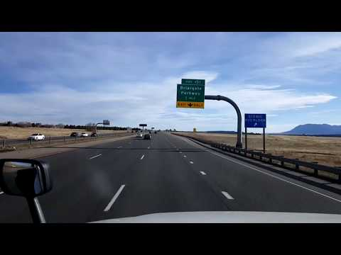 BigRigTravels LIVE! Monument to near Pueblo, Colorado  Interstate 25 South-Feb. 3, 2018