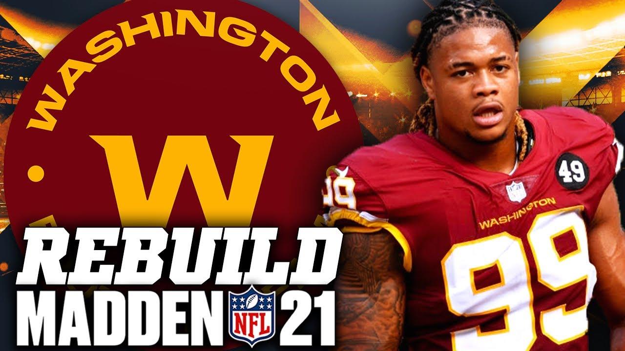 Rebuilding Washington Football Team   Chase Young Plays Football! Madden 21 Franchise