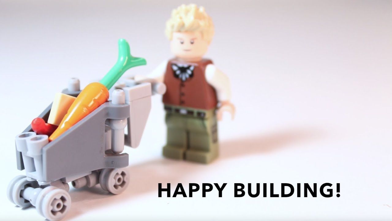 How To Build Lego Shopping Cart Micro Build Youtube