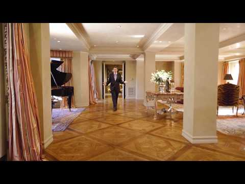 The grand salon at Maison 808 in the flats of Beverly Hills designed by Budd Holden - for sale