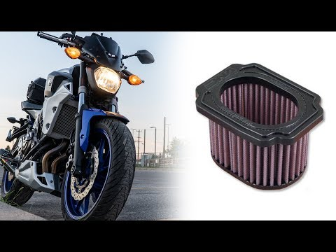 Do Performance Motorcycle Air Filters Give More Horse Power? [Motorcycles] || [Tested on MT-07]