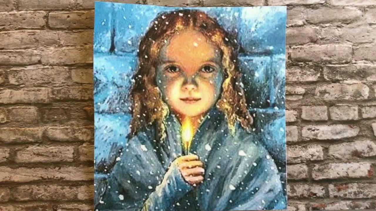 resume af den lille pigen med svovlstikkerne