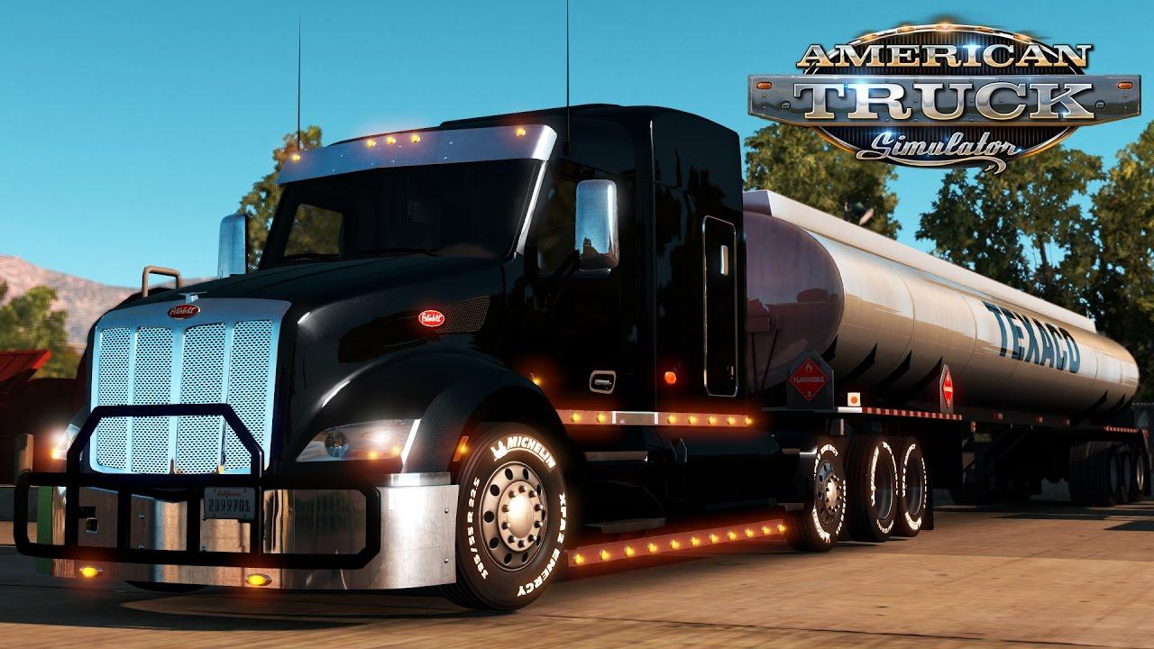 2017 Peterbilt 579 >> American Truck Simulator: Custom Peterbilt 579 with steer axle - 20 tons of Diesel fuel - YouTube