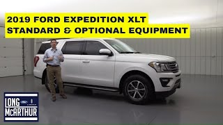 2019 FORD EXPEDITION XLT COMPLETE GUIDE STANDARD AND OPTIONAL EQUIPMENT