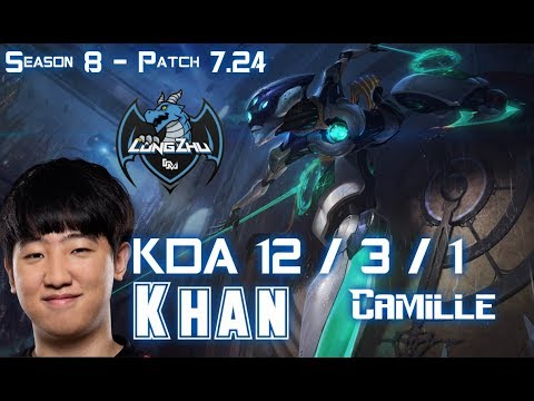 LZ Khan CAMILLE vs RIVEN Top - Patch 7.24 KR Ranked
