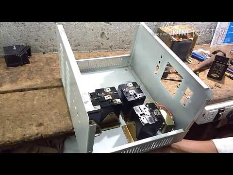 How To Make AN Automatic Voltage Stabilizer (3 Kva 60 V. To 290 V.)