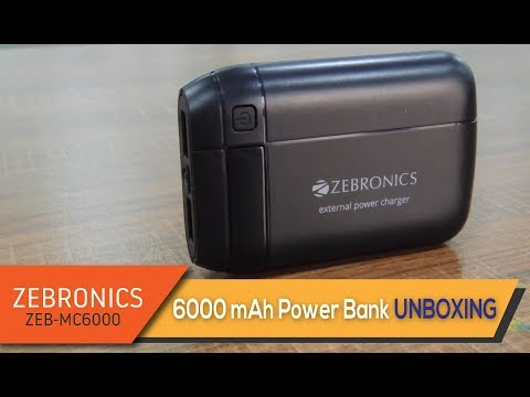 Zebronics Zeb Mc6000 6000mah Power Bank Unboxing In Depth Review