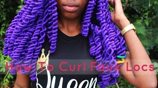 how to curl faux locs locs box braids