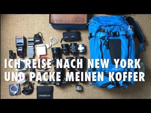 Ich reise nach New York und packe meinen Koffer