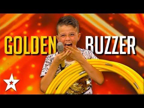 Holler Hoop REALNESS! Kid Gets GOLDEN BUZZER On Croatia's Got Talent   Got Talent Global