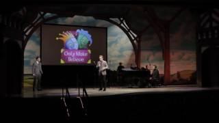 Jonny Lee Miller presents Jude Law with Sir Ian McKellen Award at Make Believe on Broadway 2016