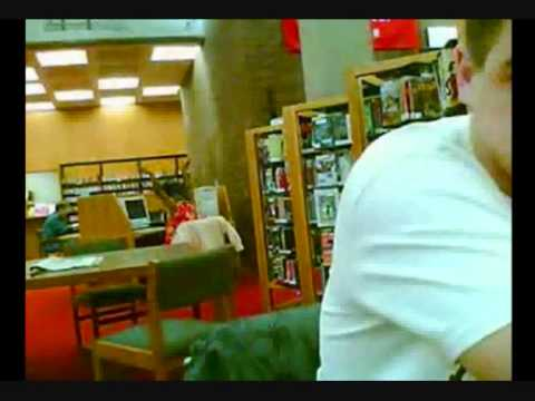 Crazy Woman Rocks Out at Library