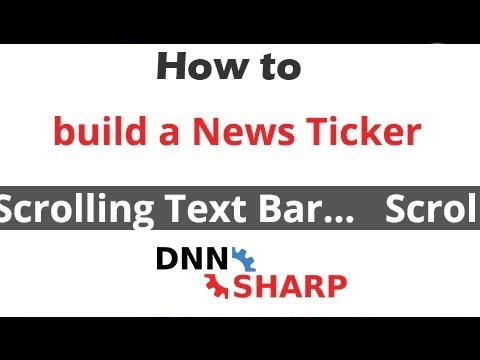 Create a Pure CSS News Ticker (announcements scrolling text bar)