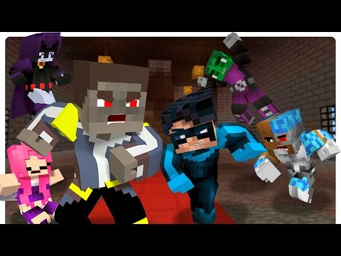Minecraft Evil Little Donny Kidnap Starfire! [Minecraft Roleplay] Minecraft Teen Titans!