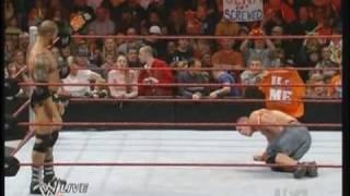 WWE RAW 2/22/10 Batista vs John Cena