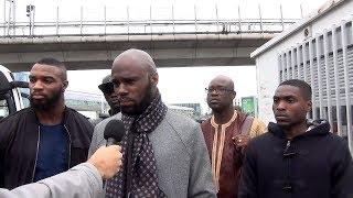 Interview de Kemi Seba, à son arrivée à Orly
