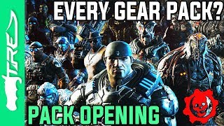 OPENING EVERY GEAR PACK EVER? - Gears of War 4 Gear Packs Opening - ALL GOW4 GEAR PACKS OPENING!