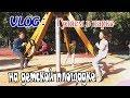 Видео для детей. Гуляем в  парке Нашли детскую плащадку Капусель в виде СПИНЕРА