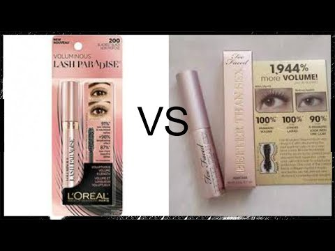 L'Oreal Lash Pardise Mascara and Too Faced Better Than Sex Mascara First Impression and Comparison