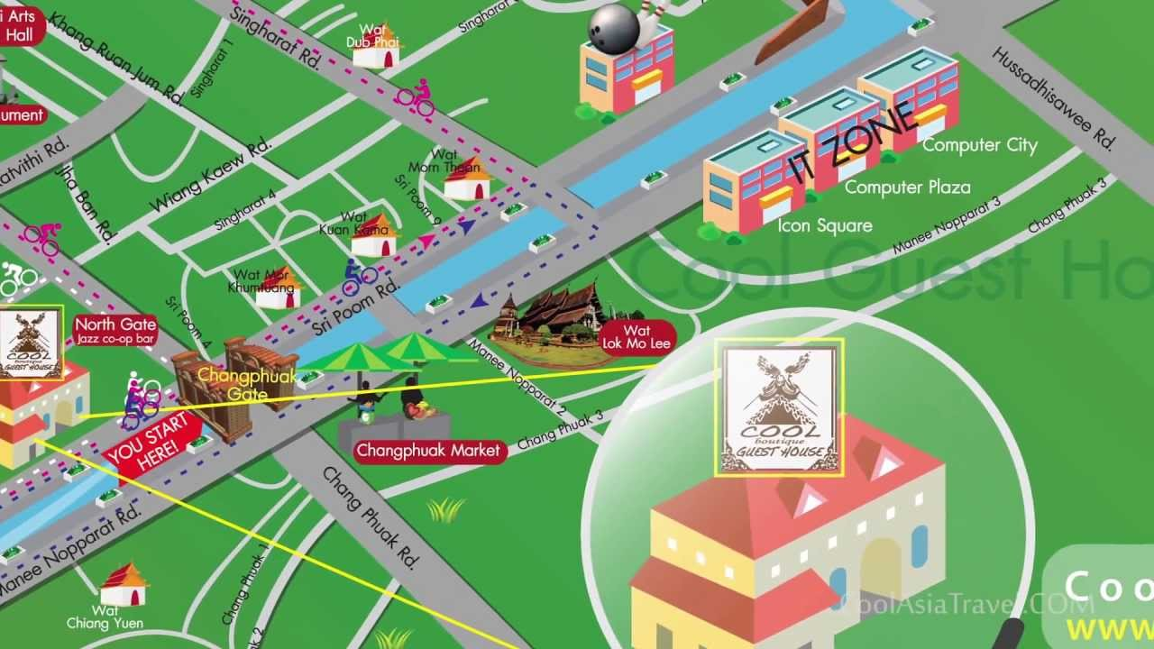 map of chiang mai old city YouTube